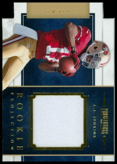 2012 Panini Prominence Rookie Projection Materials #34 A.J. Jenkins