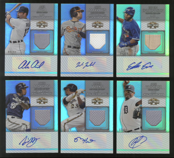 2012 Topps Triple Threads Unity Relic Autographs #UAR2 Alex Avila