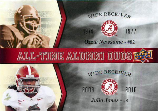 2012 Upper Deck Alabama All Time Alumni Duos #ATADNJ Julio Jones/Ozzie Newsome