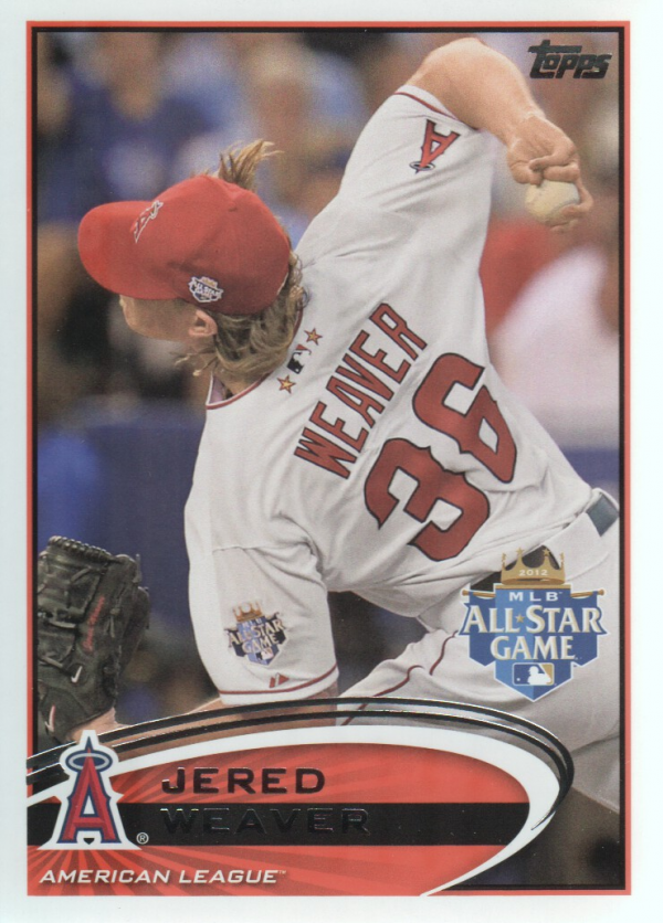 2012 Topps Update #US80 Jered Weaver