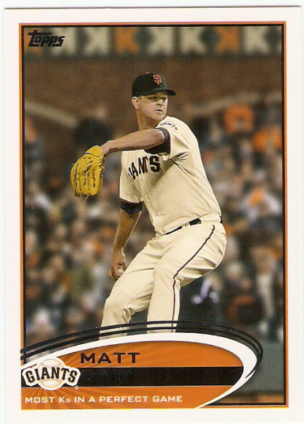 2012 Topps Update #US211 Matt Cain