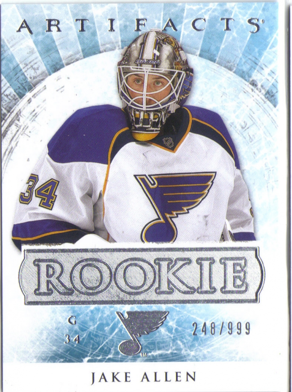 2012-13 Artifacts #193 Jake Allen RC