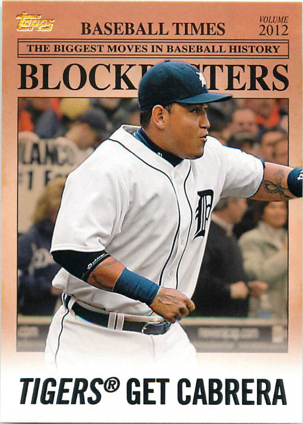 2012 Topps Update Blockbusters #BB8 Miguel Cabrera