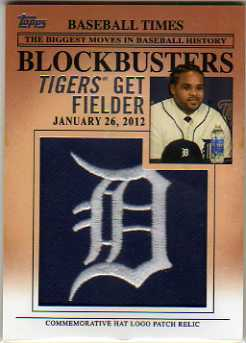 2012 Topps Update Blockbusters Commemorative Hat Logo Patch #BP10 Prince Fielder