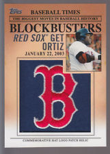 2012 Topps Update Blockbusters Commemorative Hat Logo Patch #BP20 David Ortiz