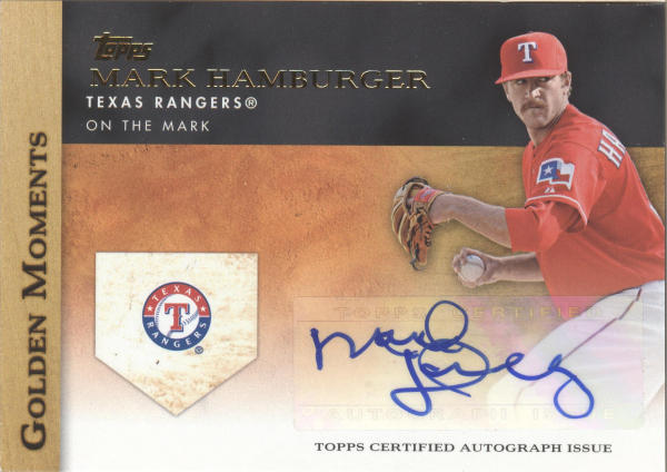 2012 Topps Golden Moments Autographs #MH Mark Hamburger UPD