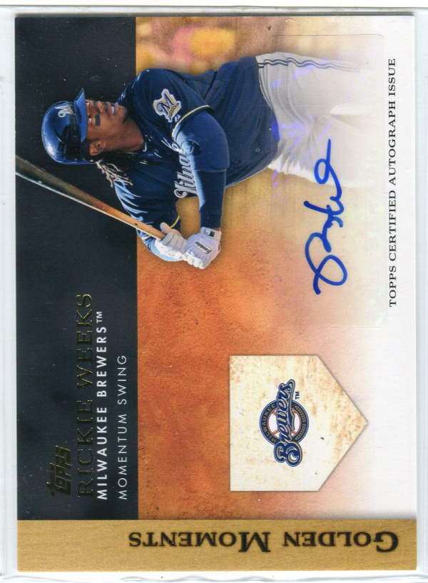 2012 Topps Golden Moments Autographs #RW Rickie Weeks UPD