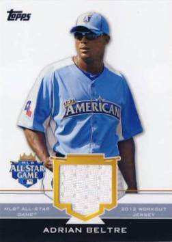 2012 Topps Update All-Star Stitches #AB Adrian Beltre