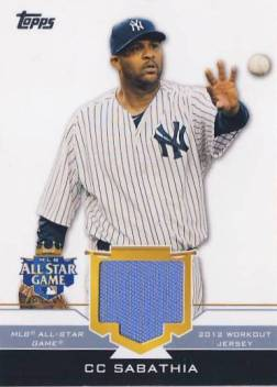2012 Topps Update All-Star Stitches #CCS CC Sabathia