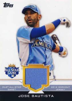 2012 Topps Update All-Star Stitches #JOB Jose Bautista