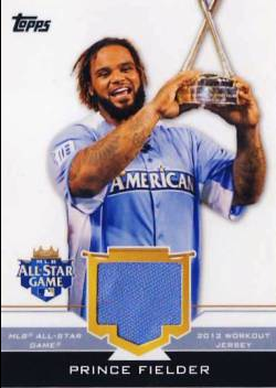 2012 Topps Update All-Star Stitches #PF Prince Fielder