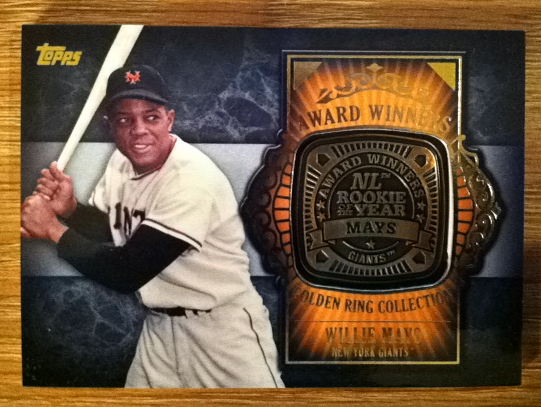 2012 Topps Update Award Winners Gold Rings #WM Willie Mays