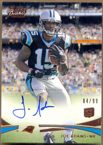 2012 Topps Prime Rookie Autographs Copper #21 Joe Adams