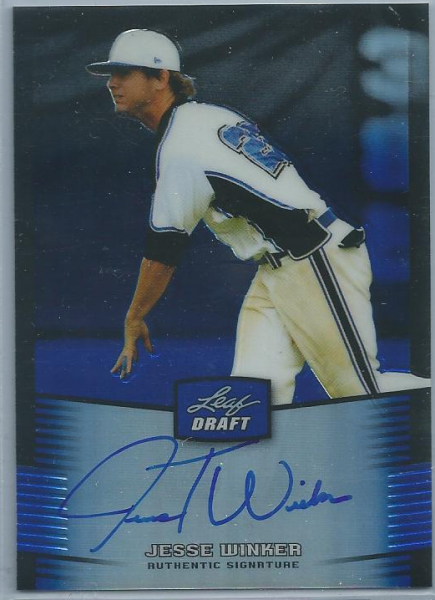 2012 Leaf Metal Draft Prismatic Blue #JW1 Jesse Winker