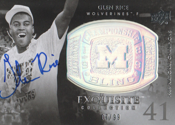 2011-12 Exquisite Collection Championship Bling Autographs #CBGR Glen Rice/99