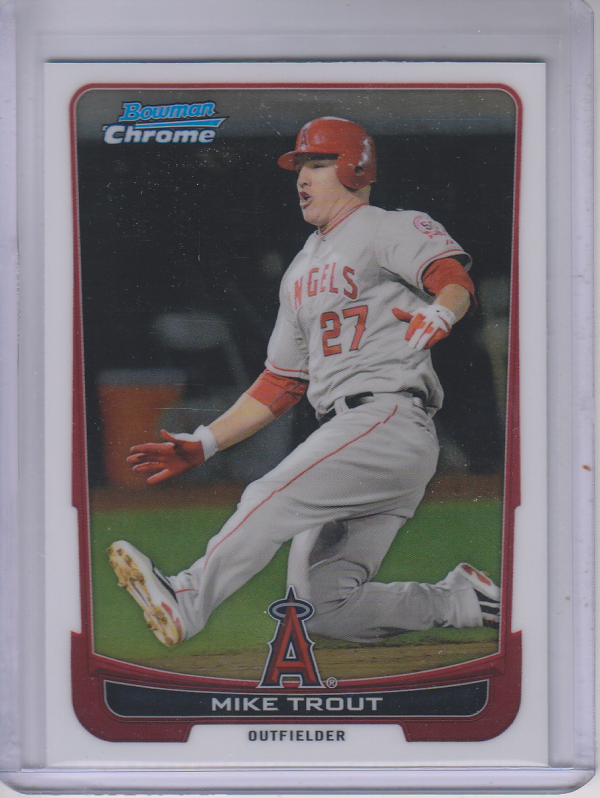 2012 Bowman Chrome #157 Mike Trout