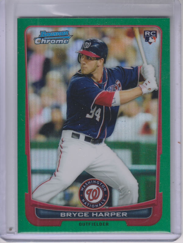 2012 Bowman Chrome Green Refractors #214 Bryce Harper