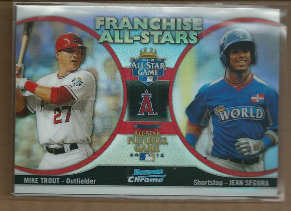 2012 Bowman Chrome Franchise All-Stars #TS Jean Segura/Mike Trout