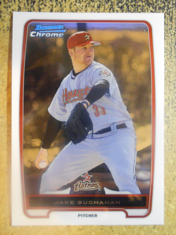 2012 Bowman Chrome Prospects #BCP215B Jake Buchanan Grey jersey SP