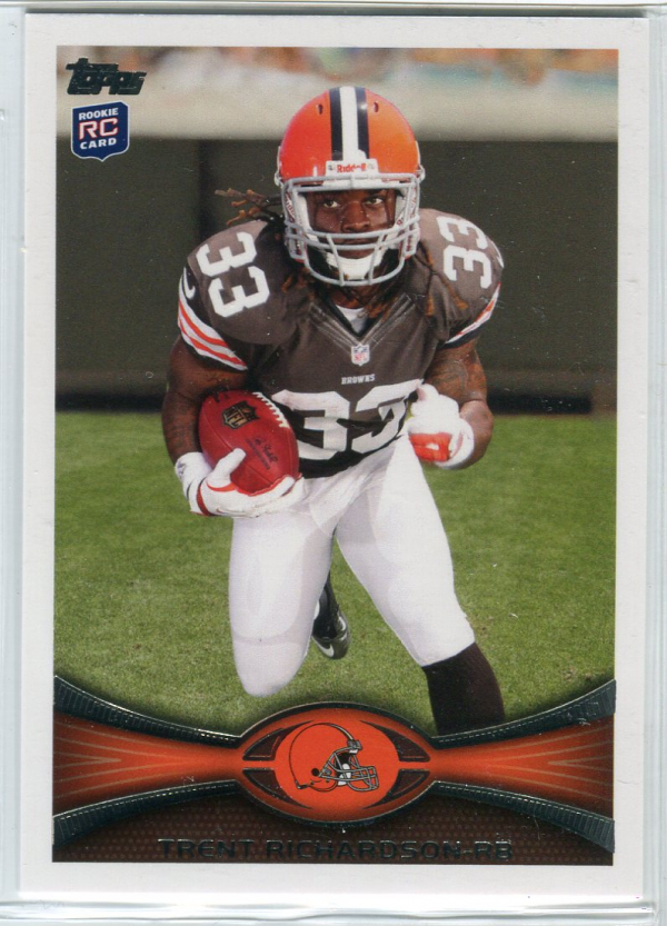 2012 Topps #380C Trent Richardson FS/(running forward, factory set insert)