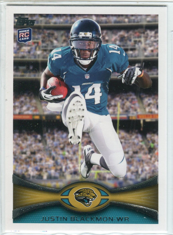 2012 Topps #240C Justin Blackmon FS/(leaping pose, factory set insert)
