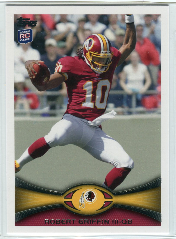 2012 Topps #340C Robert Griffin III FS/(leaping pose, factory set insert)
