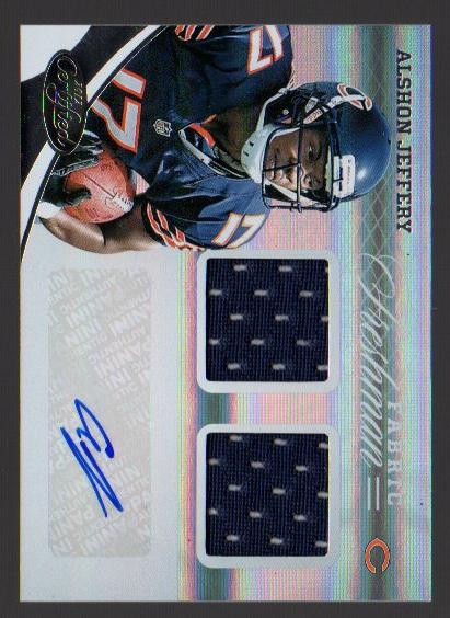 2012 Certified #327 Alshon Jeffery JSY AU/499 RC