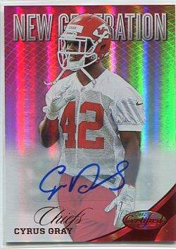 2012 Certified Mirror Red Signatures #262 Cyrus Gray/350