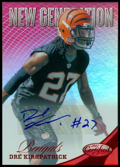 2012 Certified Mirror Red Signatures #270 Dre Kirkpatrick/250