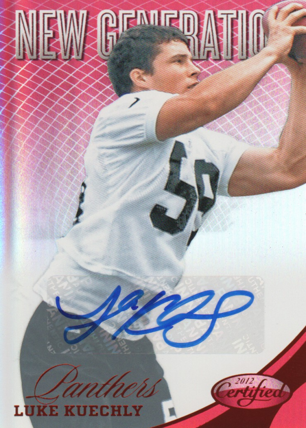 2012 Certified Mirror Red Signatures #286 Luke Kuechly/250