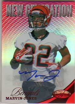 2012 Certified Mirror Red Signatures #289 Marvin Jones/350