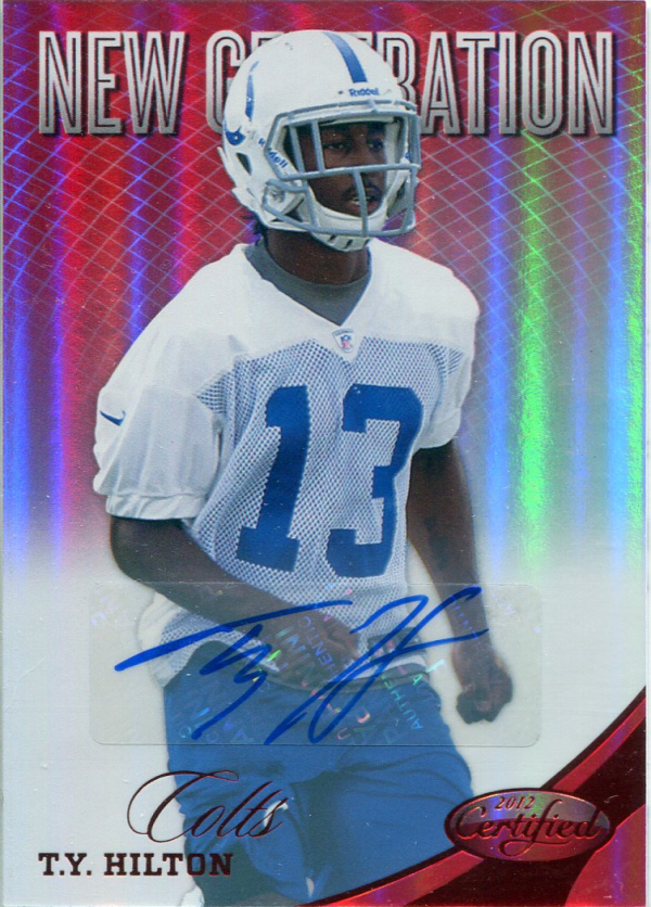 2012 Certified Mirror Red Signatures #305 T.Y. Hilton/250 EXCH