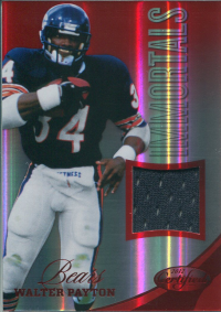 2012 Certified Mirror Red Materials #208 Walter Payton/199 front image