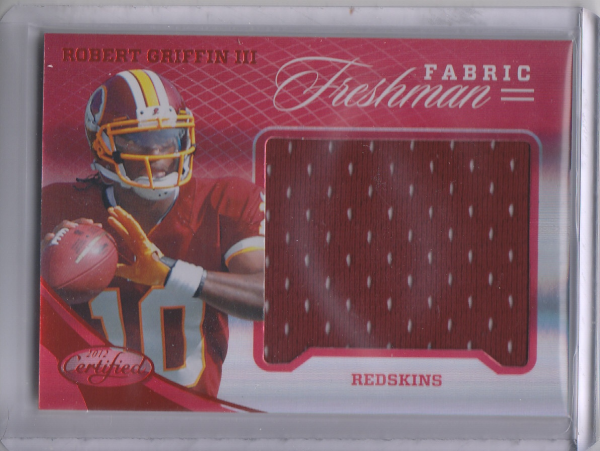 2012 Certified Mirror Red Materials #317 Robert Griffin III/149