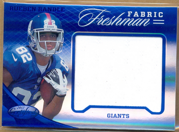 2012 Certified Mirror Blue Materials #345 Rueben Randle/49