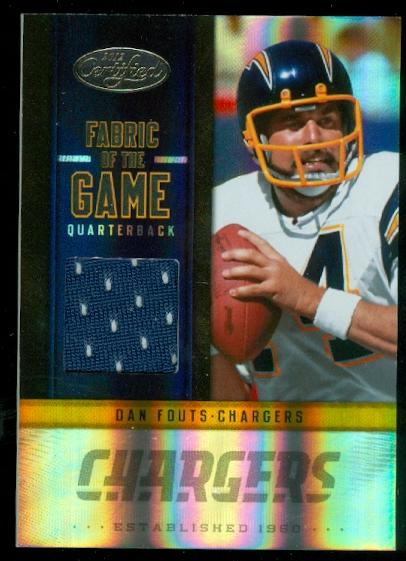 2012 Certified Fabric of the Game #49 Dan Fouts/199