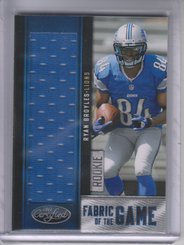 2012 Certified Rookie Fabric of the Game #32 Ryan Broyles