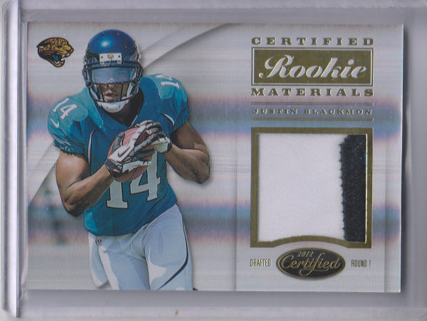 2012 Certified Certified Rookie Materials Prime #35 Justin Blackmon