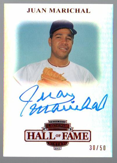 2012 Press Pass Legends Hall of Fame Red #LGJM Juan Marichal/50