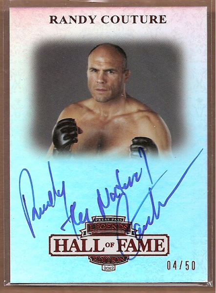 2012 Press Pass Legends Hall of Fame Red #LGRC Randy Couture/40*
