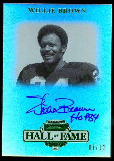 2012 Press Pass Legends Hall of Fame Green #LGWB Willie Brown/10