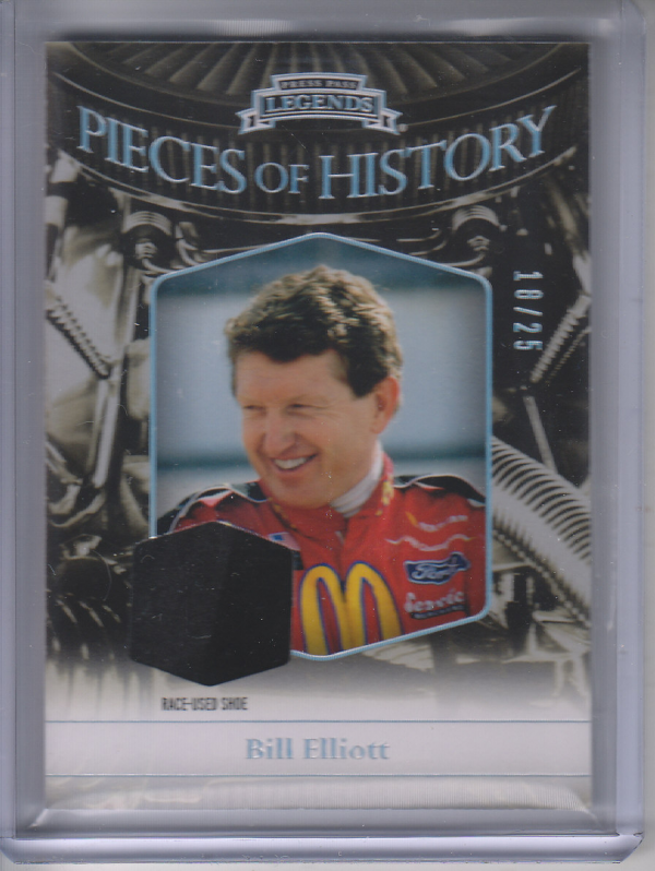 2012 Press Pass Legends Pieces of History Memorabilia Holofoil #BE3 Bill Elliott Shoe/25