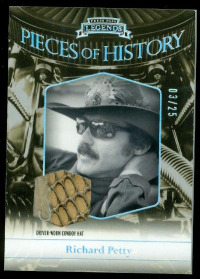 2012 Press Pass Legends Pieces of History Memorabilia Holofoil #RP3 Richard Petty Hat/25