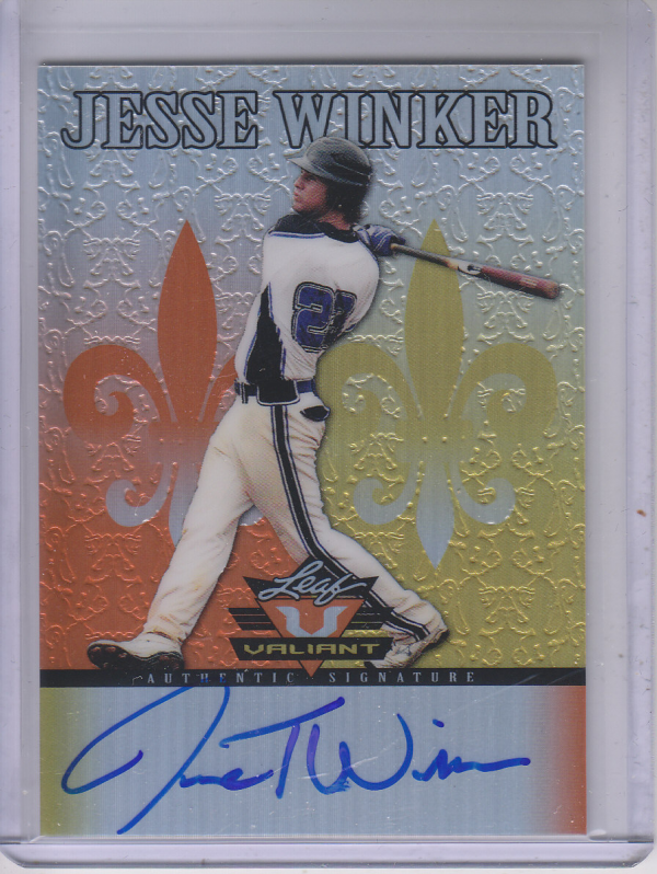 2012 Leaf Valiant Draft Orange #JW1 Jesse Winker