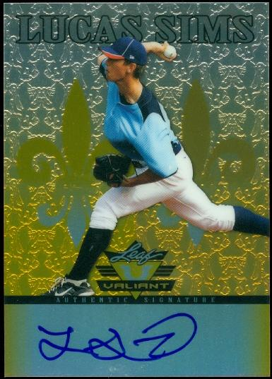 2012 Leaf Valiant Draft Yellow #LS1 Lucas Sims