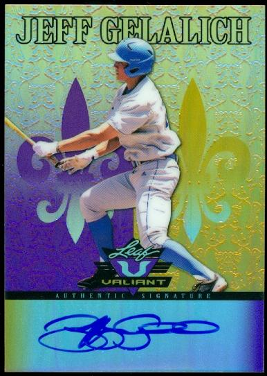2012 Leaf Valiant Draft Purple #JG2 Jeff Gelalich