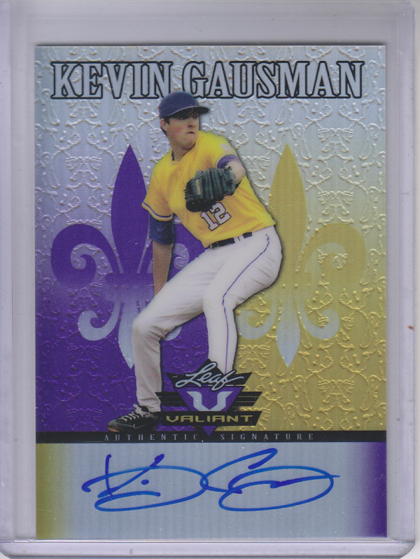 2012 Leaf Valiant Draft Purple #KG1 Kevin Gausman