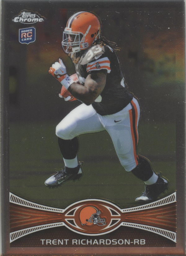 2012 Topps Chrome #23A Trent Richardson RC/cutting pose