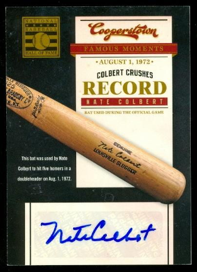 2012 Panini Cooperstown Famous Moments Signatures #9 Nate Colbert