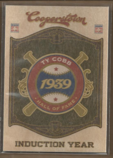 2012 Panini Cooperstown HOF Classes Induction Year #1 Ty Cobb